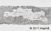 Gray Panoramic Map of Smoljan