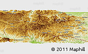 Physical Panoramic Map of Smoljan