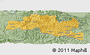 Savanna Style Panoramic Map of Smoljan