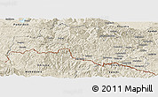 Shaded Relief Panoramic Map of Smoljan