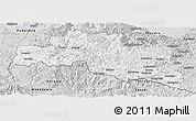 Silver Style Panoramic Map of Smoljan
