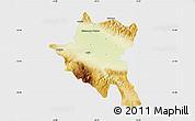 Physical Map of Sofija, single color outside