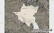 Shaded Relief Map of Sofija, darken