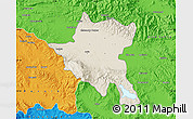 Shaded Relief Map of Sofija, political outside