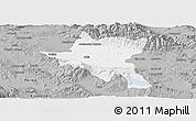 Gray Panoramic Map of Sofija