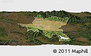 Satellite Panoramic Map of Sofija, darken