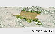 Satellite Panoramic Map of Sofija, lighten