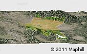 Satellite Panoramic Map of Sofija, semi-desaturated