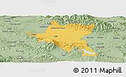 Savanna Style Panoramic Map of Sofija