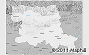 Gray 3D Map of Stara Zagora