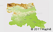 Physical 3D Map of Stara Zagora, cropped outside