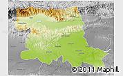 Physical 3D Map of Stara Zagora, desaturated