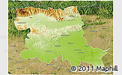 Physical 3D Map of Stara Zagora, satellite outside