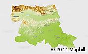 Physical 3D Map of Stara Zagora, single color outside