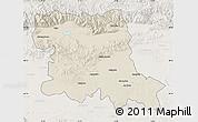 Shaded Relief Map of Stara Zagora, lighten