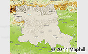 Shaded Relief Map of Stara Zagora, physical outside