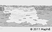 Gray Panoramic Map of Stara Zagora