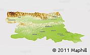 Physical Panoramic Map of Stara Zagora, cropped outside