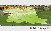 Physical Panoramic Map of Stara Zagora, darken