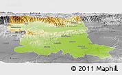 Physical Panoramic Map of Stara Zagora, desaturated