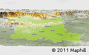 Physical Panoramic Map of Stara Zagora, semi-desaturated