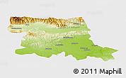 Physical Panoramic Map of Stara Zagora, single color outside