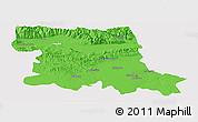Political Panoramic Map of Stara Zagora, cropped outside