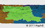 Political Panoramic Map of Stara Zagora, darken