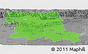 Political Panoramic Map of Stara Zagora, desaturated