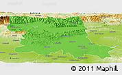 Political Panoramic Map of Stara Zagora, physical outside