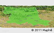 Political Panoramic Map of Stara Zagora, satellite outside