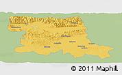 Savanna Style Panoramic Map of Stara Zagora, single color outside