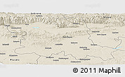 Shaded Relief Panoramic Map of Stara Zagora