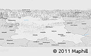 Silver Style Panoramic Map of Stara Zagora