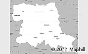 Gray Simple Map of Stara Zagora