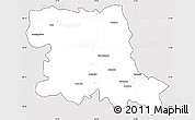 Silver Style Simple Map of Stara Zagora, cropped outside