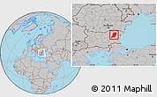 Gray Location Map of Sumen