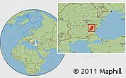 Savanna Style Location Map of Sumen