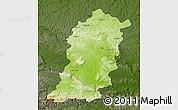 Physical Map of Sumen, darken