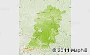 Physical Map of Sumen, lighten