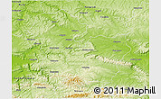 Physical 3D Map of Targoviste