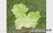 Physical Map of Targoviste, darken