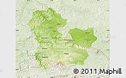 Physical Map of Targoviste, lighten