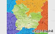 Physical Map of Targoviste, political outside