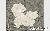 Shaded Relief Map of Targoviste, darken