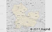 Shaded Relief Map of Targoviste, desaturated