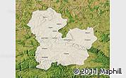 Shaded Relief Map of Targoviste, satellite outside