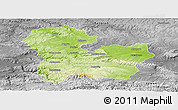 Physical Panoramic Map of Targoviste, desaturated