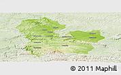 Physical Panoramic Map of Targoviste, lighten