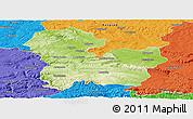 Physical Panoramic Map of Targoviste, political outside